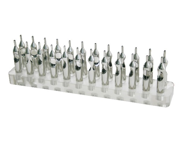 Acrylic Tattoo Tip Holder - Stainless Steel Tip Holder