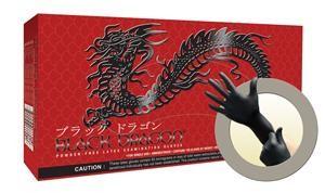 Black Dragon Powder-Free Latex Gloves
