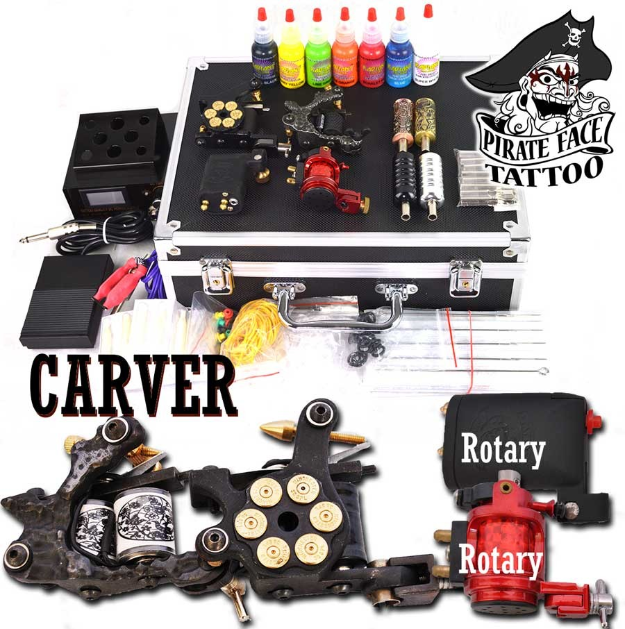 CARVER ROTARY - 4 Gun Tattoo Rotary Kit