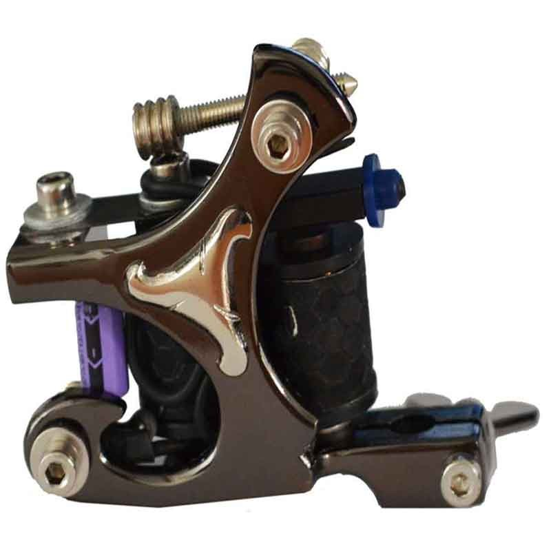 Black Swirl Cast Iron Liner Tattoo Machine (M316-2)
