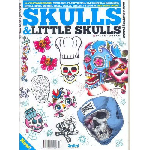 Skulls and Little Skulls Tattoo Illustration Flashbook