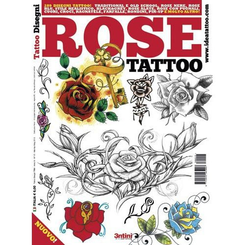 Rose Tattoo Illustration Flash Book