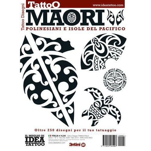 MAORI Polynesian Pacific Island Tribal Illustration Flash Book