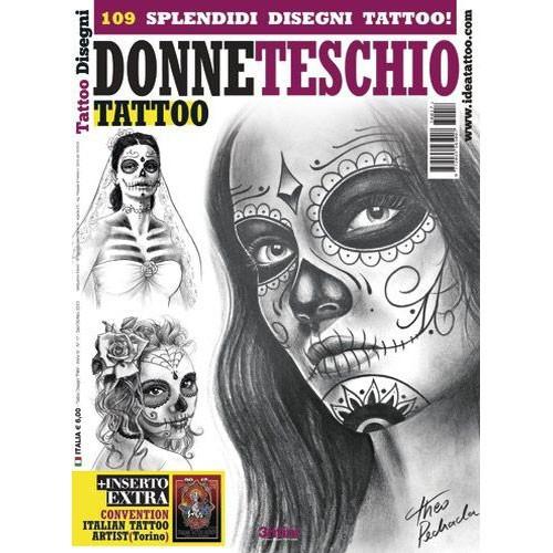 DONNE TESCHIO Skull Women Illustration Flash Book
