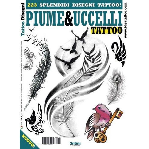PIUME&UCCELLI Birds and Feathers Illustration Flash Book