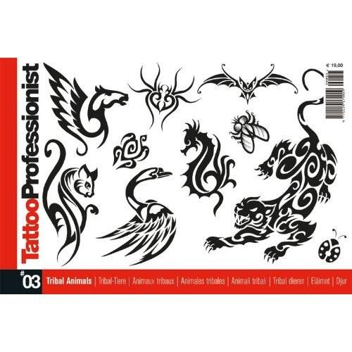 Tattoo Professional Series #3 Tattoo Book on TRIBAL ANIMALS Illustration Flash Book