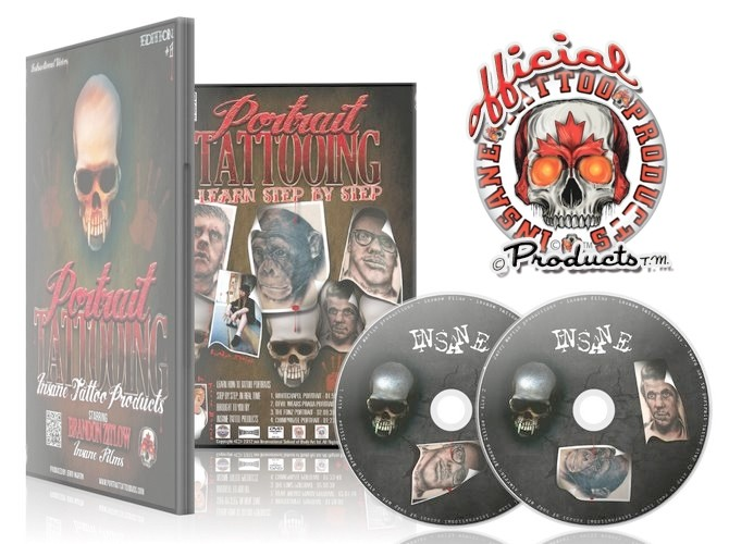 6.5 Hour Professional Portrait Tattoo on 2 DVD Video Insane