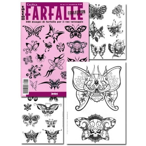 Tattoo Farfalle Butterfly Illustration Flash Book