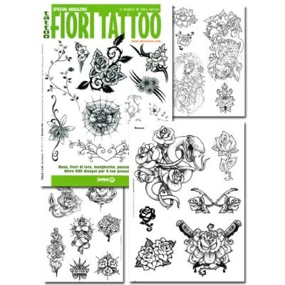 Tattoo Fiori Flower Illustration Flash Book