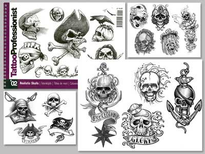 Tattoo Professional Series #2 Tattoo Book on SKULLS Illustration Flash Book