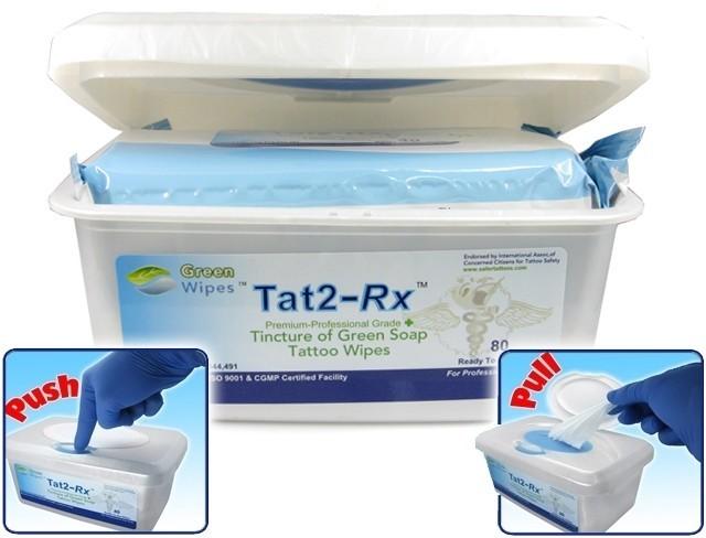 Tat2-RX Green Soap Wipes