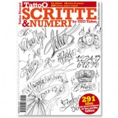 SCRITTE & NUMERI Sciprts and Numbers Tattoo Illustration Flash Book