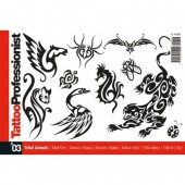 Tattoo Professional Series #3 Tattoo Book on TRIBAL ANIMALS Illustration Flash Book