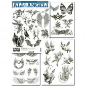 Tattoo Ali & Angeli Wings & Angels Flash Book